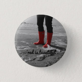 Rubber boots can be mad 1 inch round button