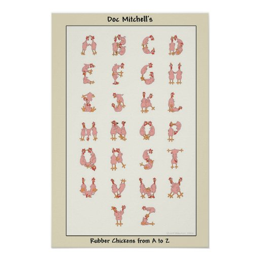 Rubber Chickens from A to Z Poster