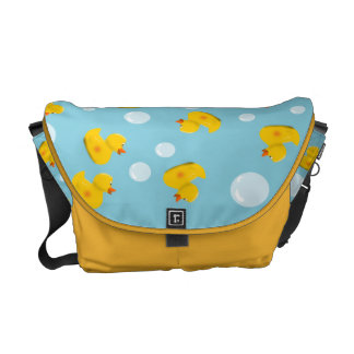 Rubber Duck and Bubble Pattern Commuter Bag
