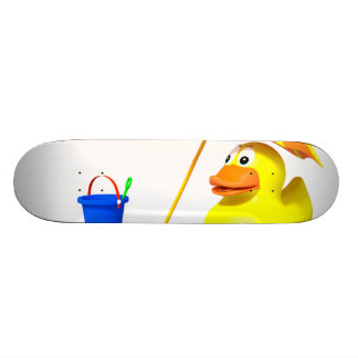 Rubber duck at the beach skateboard