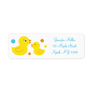 Rubber Duck Baby Shower Address