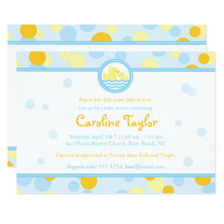 Rubber Duck Baby Shower Invitations