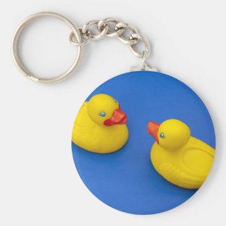 Rubber Duck Basic Round Button Keychain