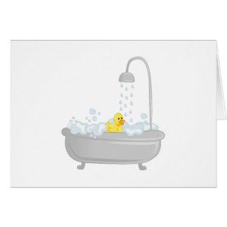 Rubber Duck Bath Card