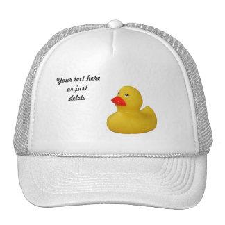Rubber duck cute fun yellow custom hat, cap, gift