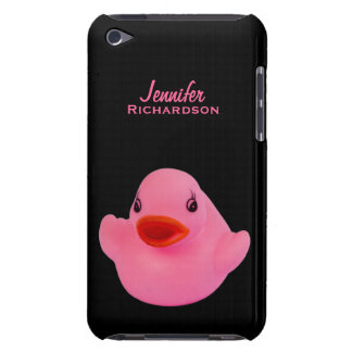 Rubber duck cute pink, fun custom girls name, gift iPod touch Case-Mate case