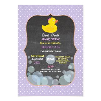 Rubber Duck Ducky Bubble Birthday Party Invite