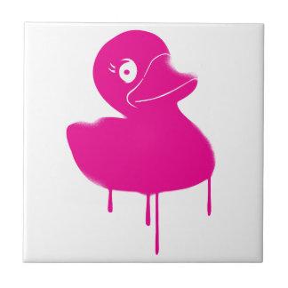 Rubber Duck Ducky Graffiti Art Tile