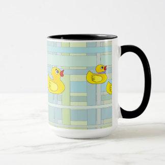 Rubber Duck Family on Henry Plaid Mug