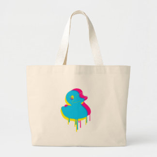 Rubber Duck Graffiti Pop Art Rubber Ducky Large Tote Bag