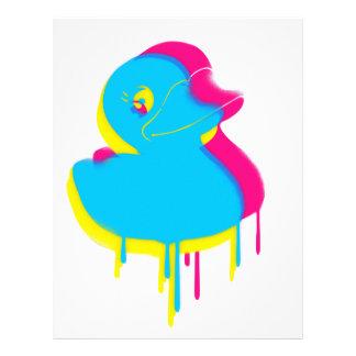 Rubber Duck Graffiti Pop Art Rubber Ducky Letterhead