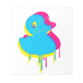 Rubber Duck Graffiti Pop Art Rubber Ducky Notepad