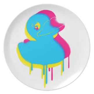 Rubber Duck Graffiti Pop Art Rubber Ducky Plate