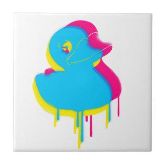 Rubber Duck Graffiti Pop Art Rubber Ducky Tile