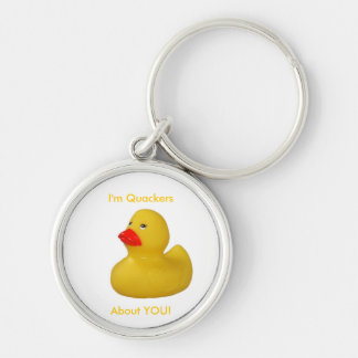Rubber duck, I'm quackers about you keychain