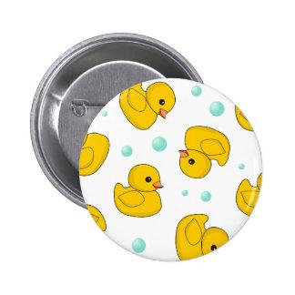 Rubber Duck Pattern 2 Inch Round Button