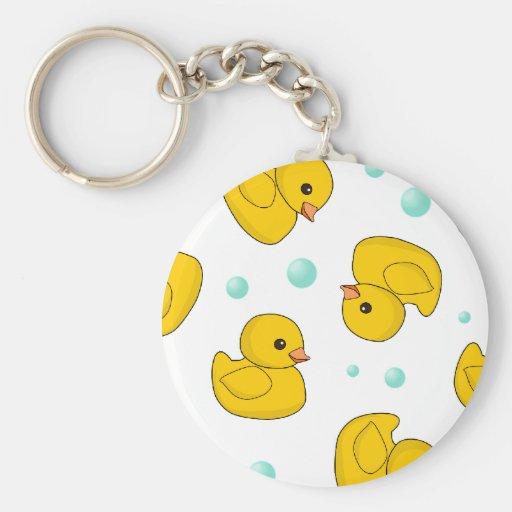 Rubber Duck Pattern Keychain