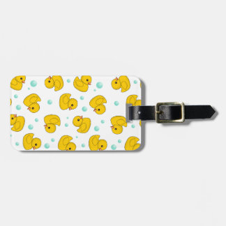 Rubber Duck Pattern Travel Bag Tags
