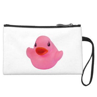 Rubber duck pink cute, novelty, fun, gift wristlet clutch