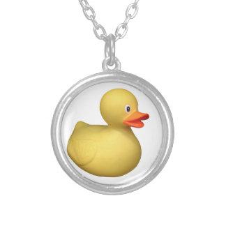 Rubber Duck Round Pendant Necklace