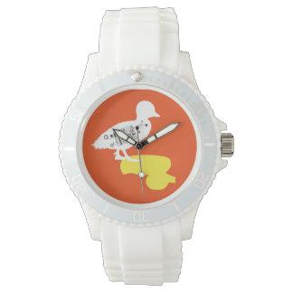 Rubber Duck-Shadow Duck White Sporty Watch