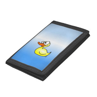 Rubber duck trifold wallets