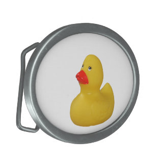 Rubber duck yellow fun novelty belt buckle
