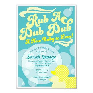 Rubber Duckie Baby Shower Invitation