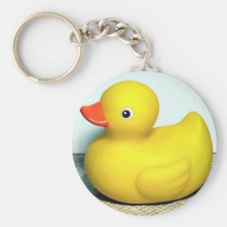 Rubber Duckie Basic Round Button Keychain