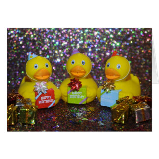 Rubber duckie birthday card