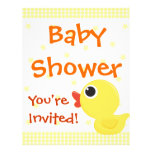 Rubber Duckie Personalized Flyer