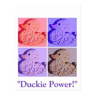 Rubber Duckie Pop Art Postcard