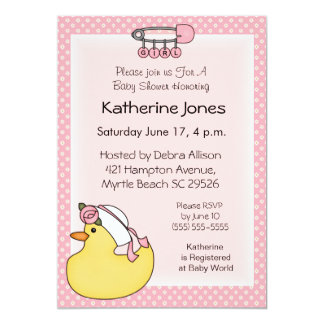 Rubber Duckie Shower Invitations