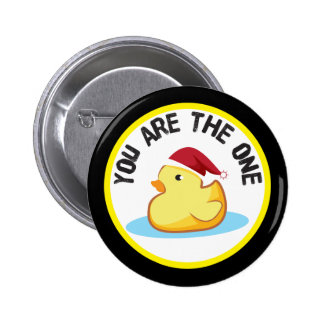 Rubber duckie you are the one christmas button