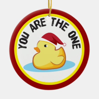 Rubber duckie you are the one christmas ornament