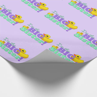 """Rubber Duckies - Big Sister"" Wrapping Paper"