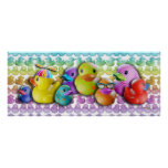 Rubber Duckies Poster, Prints