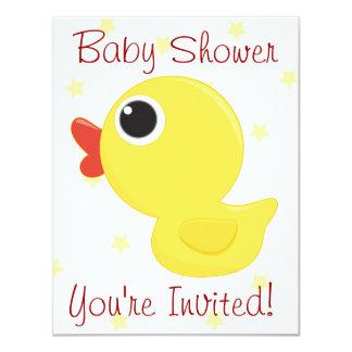 """Rubber Ducky 4.25"""" X 5.5"""" Invitation Card"""