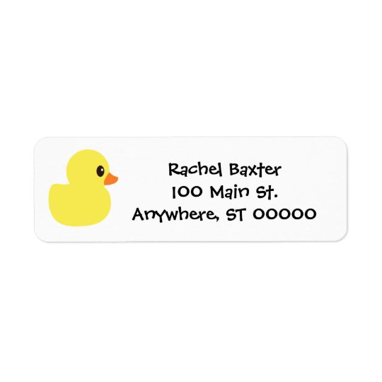 """Rubber Ducky"" Address Labels"