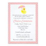 Rubber Ducky Baby Girl Shower invite - customize