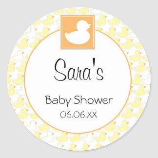 Rubber Ducky Baby Invitation or Favor Sticker