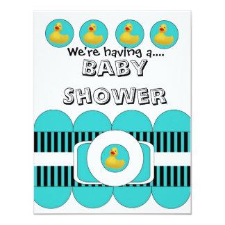 "Rubber Ducky Baby Shower Invitation 4.25"" X 5.5"" Invitation Card"
