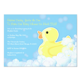 Rubber Ducky - Baby Shower Invitation