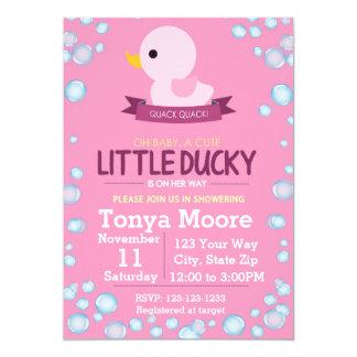 Rubber Ducky Baby Shower Invitation (girl)