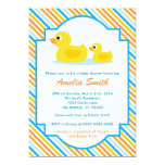 "Rubber Ducky Baby Shower Invitation - Unisex, Boy 5"" X 7"" Invitation Card"