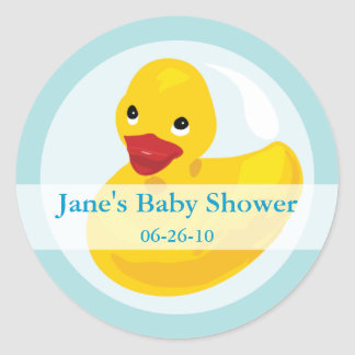 Rubber Ducky Baby Shower Label Sticker