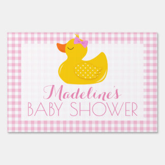 Rubber Ducky Baby Shower Sign