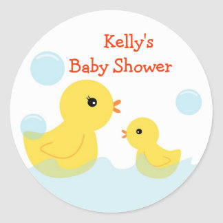 Rubber Ducky Baby Shower Stickers