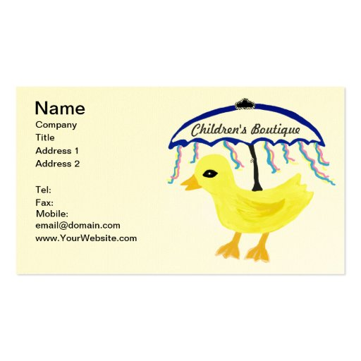 Rubber duckie business cards 142 business card templates for Rubber business cards