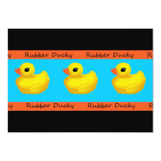 Rubber Ducky Birthday Party Invitations